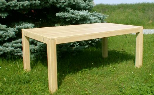 richtig gut leben massiver ahorntisch vollholztisch mit. Black Bedroom Furniture Sets. Home Design Ideas
