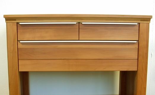 mobiler birnenholzwagen, fläche erweiterbar, vollholzmöbel ... - Rollwagen Für Küche